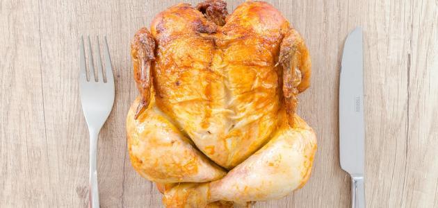 طريقة عمل الدجاج المحشي والمشوي