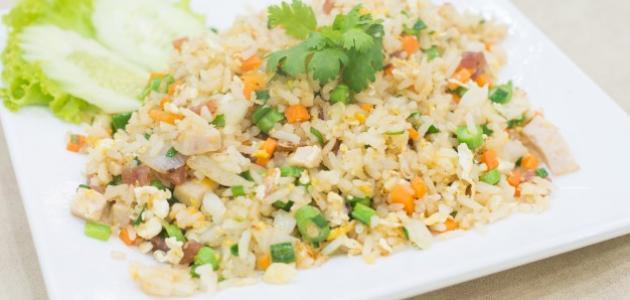 طريقة عمل أرز أبيض بالخضار