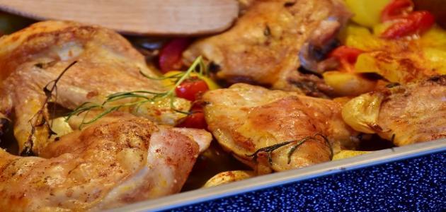 طريقة عمل دجاج مقطع مشوي بالفرن