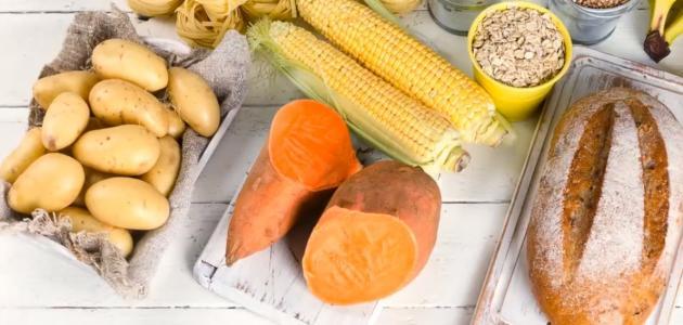طعام يحتوي على الكربوهيدرات
