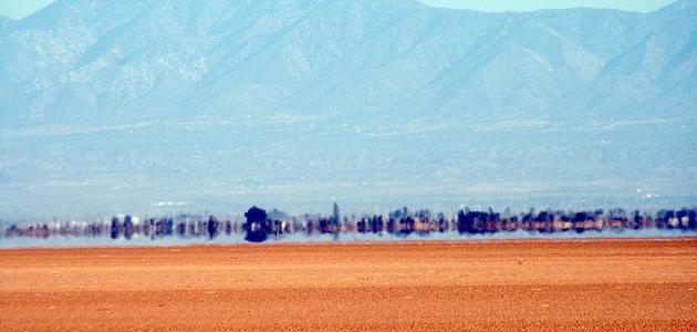 ظاهرة السراب الصحراوي