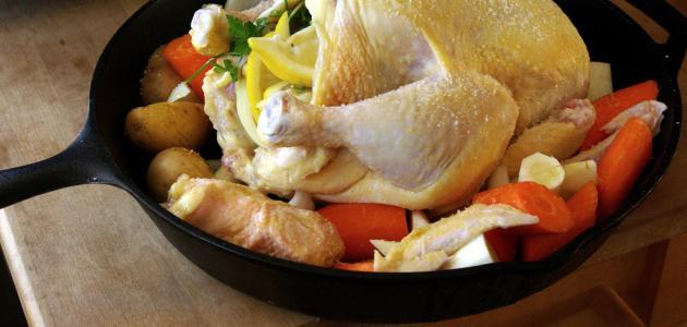 طريقة عمل الدجاج في الأكياس الحرارية
