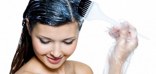 طريقة عمل صبغة الشعر بالبيت