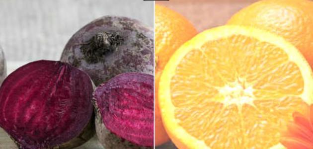 فوائد البنجر والبرتقال
