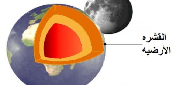 عدد طبقات القشرة الأرضية