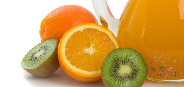 طريقة عمل عصير الكيوي والبرتقال