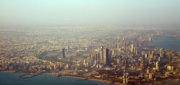 مساحة الكويت وعدد سكانها