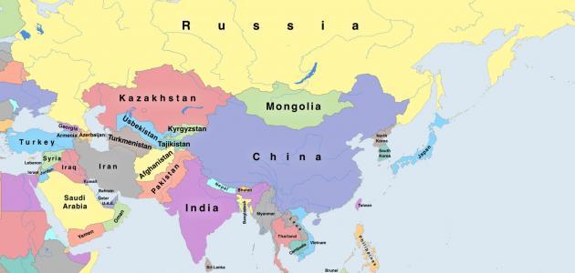 كم عدد الدول في القارة الآسيوية
