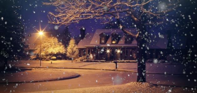 وصف مظاهر الطبيعة في فصل الشتاء