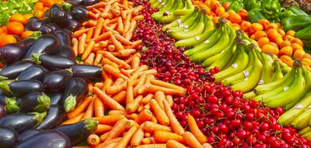 معلومات عن فوائد الخضروات والفواكه