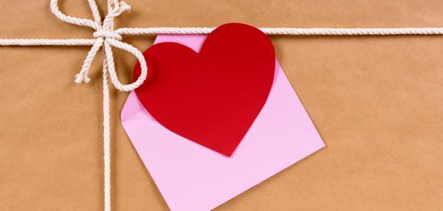 رسائل حب مكتوبة موضوع