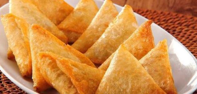 وصفة ميني سمبوسك بالجبن الكريمي - فيديو