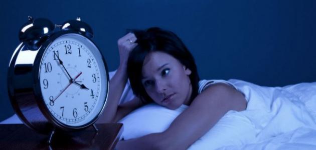 من أسباب عدم النوم