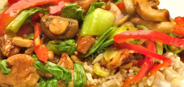 طريقة عمل أرز بالدجاج والخضار