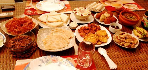 عمل أطباق في رمضان