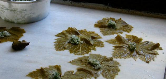 طريقة عمل تتبيلة ورق العنب