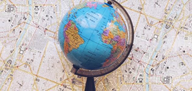 مكونات الخريطة الجغرافية