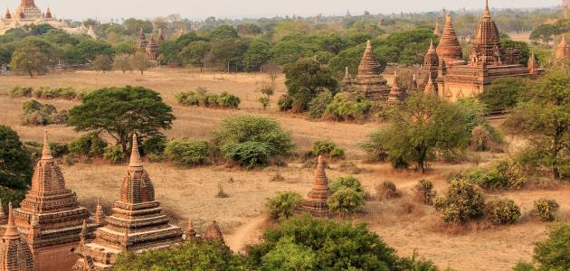موقع دولة ميانمار