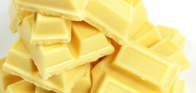 كيفية عمل شوكولاتة بيضاء