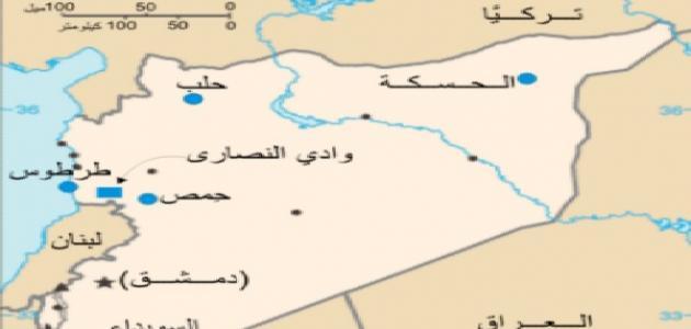 أي دولة تقع شمال سوريا