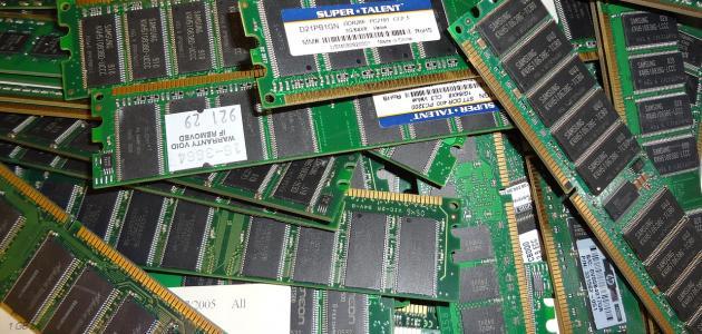 أنواع ذاكرة الوصول العشوائي