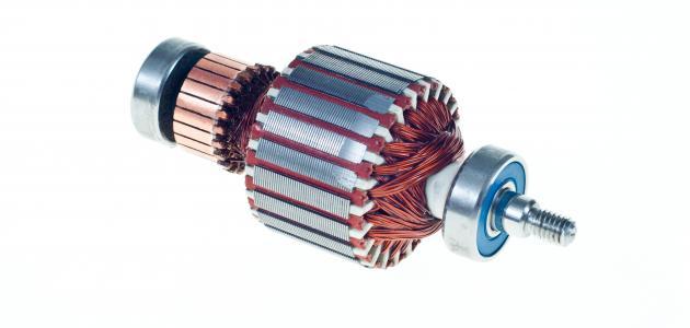 مكونات المحرك الكهربائي