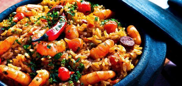 طريقة عمل أرز بالجمبري والخضار