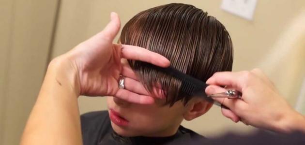 كيفية تمشيط الشعر القصير