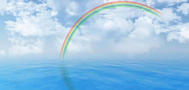 The time of the appearance of the rainbow