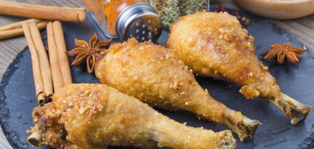 طريقة عمل أفخاذ الدجاج المشوية