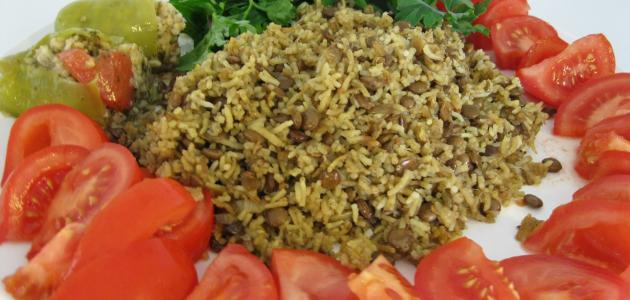طريقة تحضير مجدرة الأرز