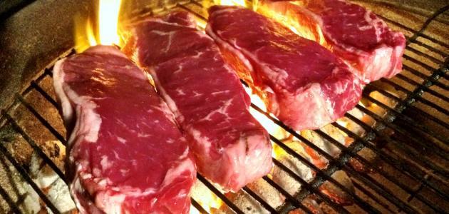 طريقة عمل لحم الستيك المشوي