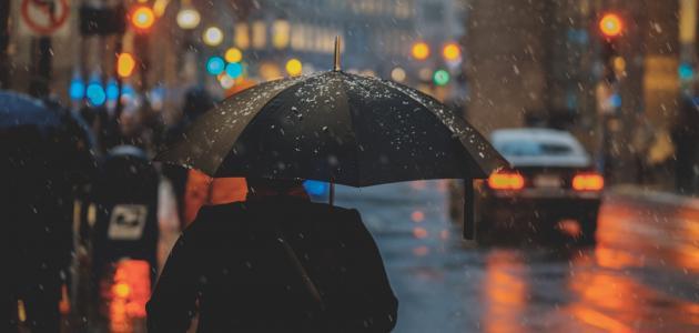 مسجات عن نزول المطر