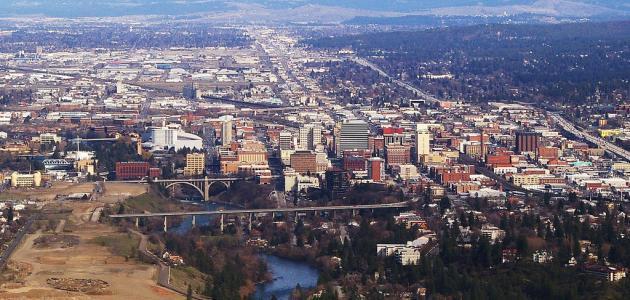 مدينة سبوكان في ولاية واشنطن