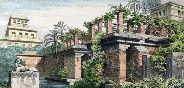 عدد أبواب حدائق بابل المعلقة