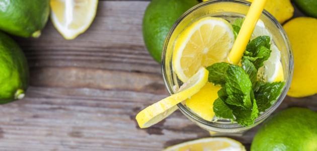 طريقة عمل عصير النعناع والليمون