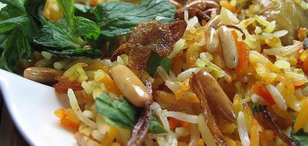 طريقة عمل أرز الملون