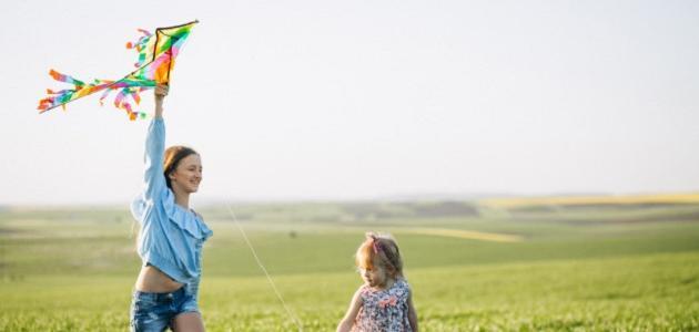 صنع طائرة ورقية للأطفال