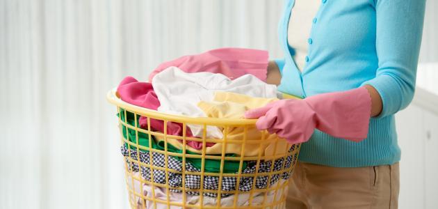 طريقة غسل الملابس القطنية