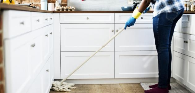 طريقة تنظيف بلاط المطبخ