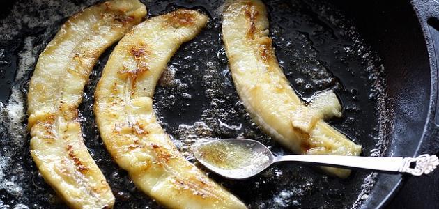طريقة قلي الموز