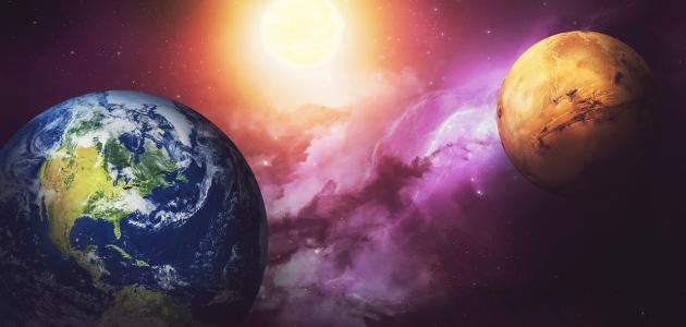 كم يبعد المريخ عن الأرض