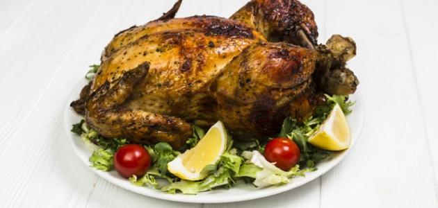 طريقة عمل الدجاج المحشي بالبصل والسماق