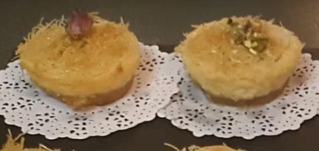 طريقة عمل تشيز كيك الكنافة