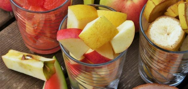 طريقة حفظ سلطة الفواكه