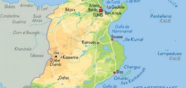أين تقع تونس على الخريطة