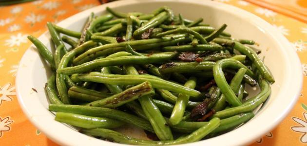 أطباق اللوبيا الخضراء