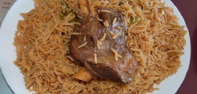 أطباق أرز باللحم