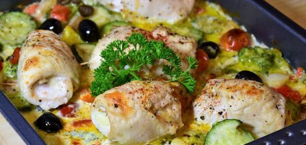 أطباق الزيتون بالدجاج