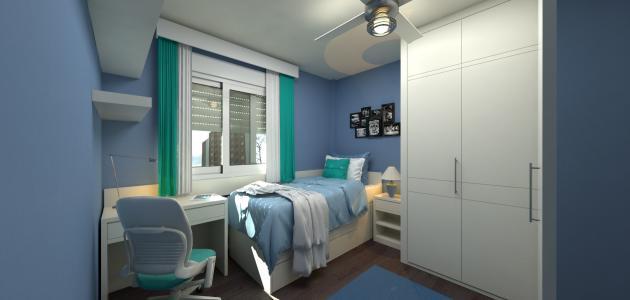 ترتيب غرفة النوم الضيقة